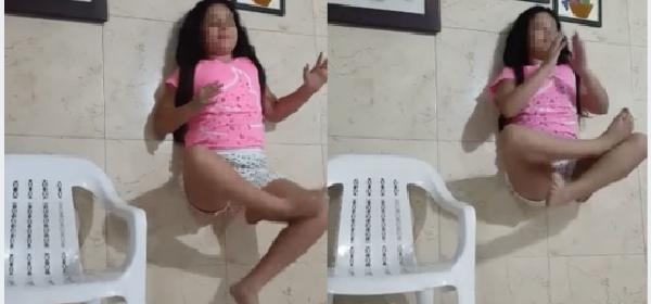 gracioso video de la niña levitando